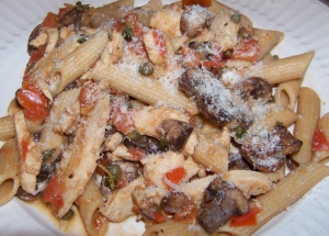 Whole Wheat Pasta with Capers and Chicken